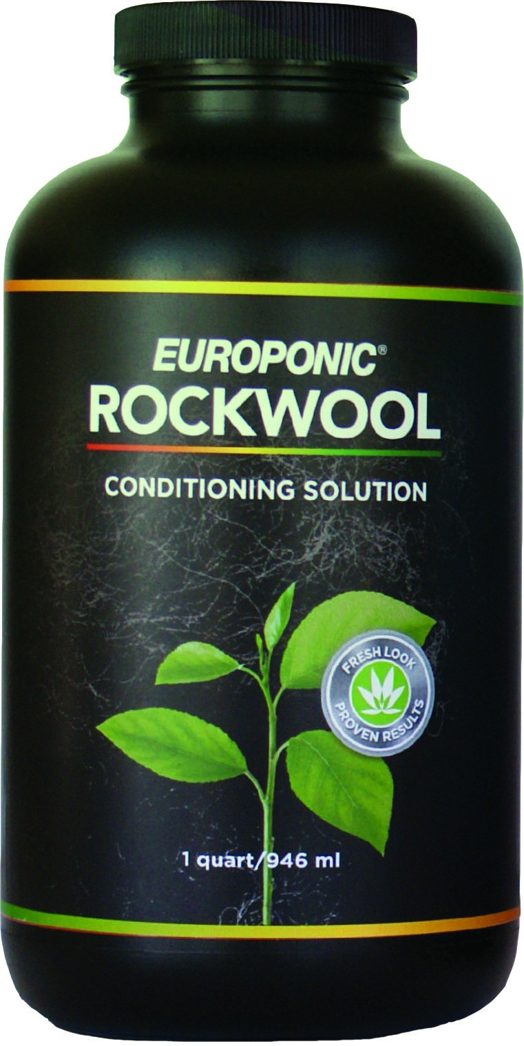 Europonic Rockwool Conditioning Solution; rockwool cubes; learn about rockwool